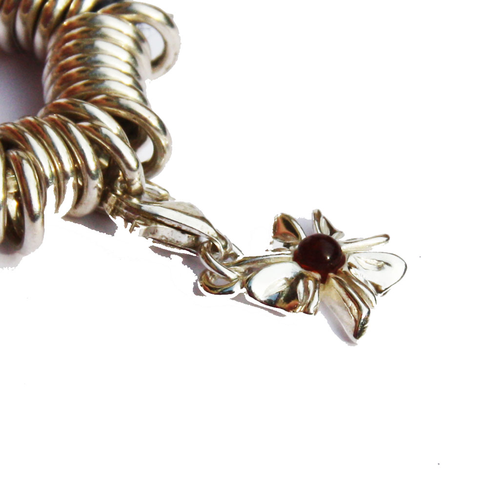 Silver Amber Charm 11091.2