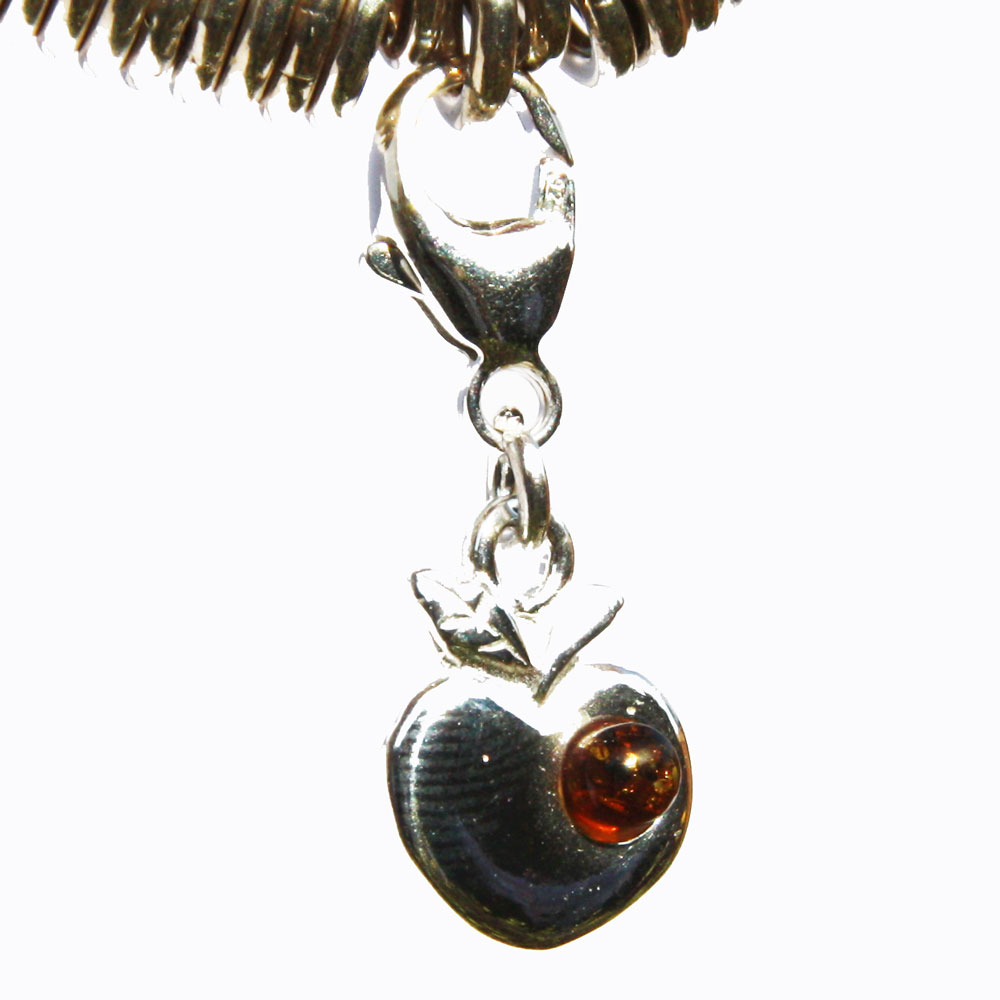 Silver Amber Apple Charm 01