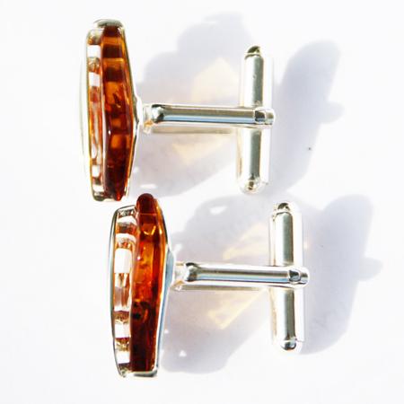Cognac Amber Cufflinks 2209