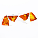 Baltic Amber Silver Cufflinks