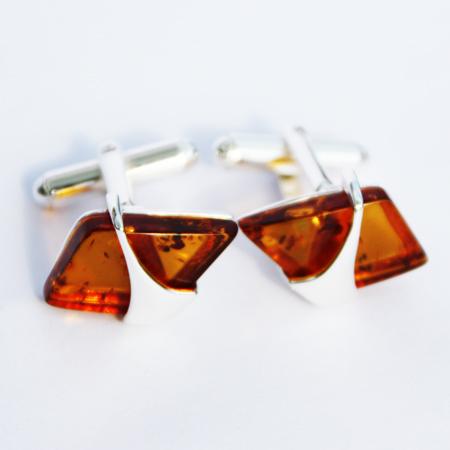 Cognac Amber Cufflinks 3109