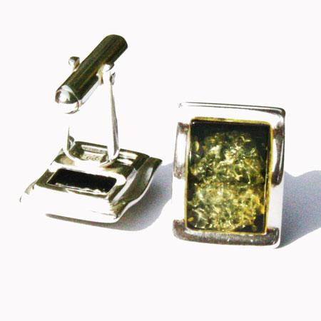 Green Amber Cufflinks 130