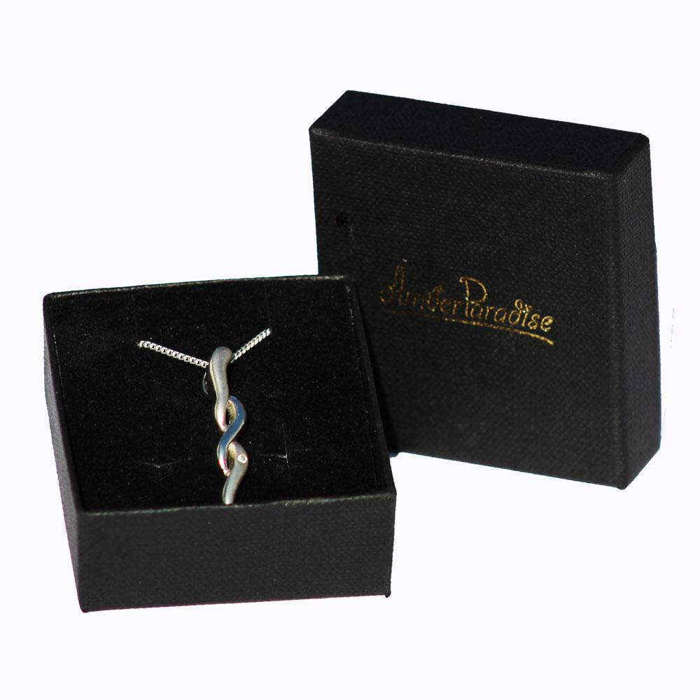 Silver and Diamond Pendant 9325
