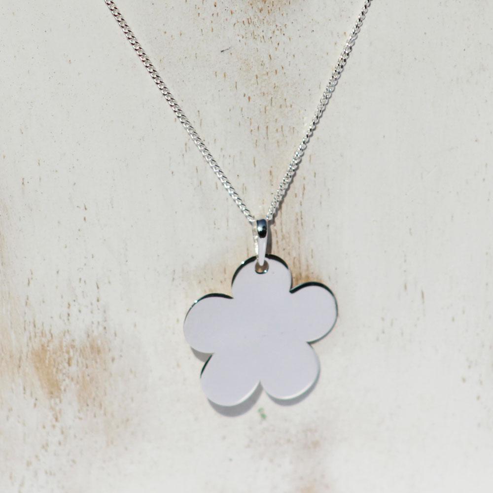 Silver CHARM-PENDANT Flower