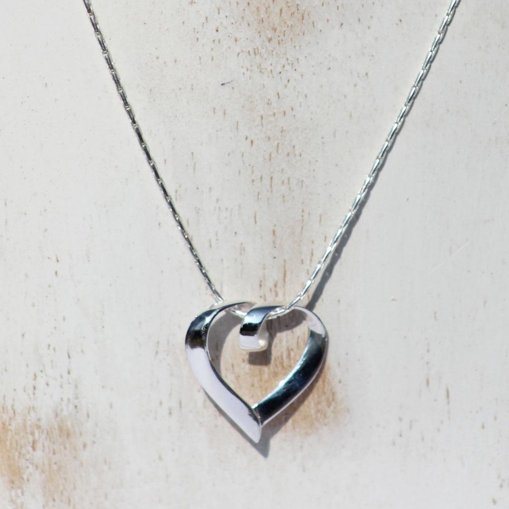 Silver Heart Pendant 48